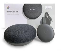 Google Home tv+Chromecast 3 Google novo lacrado a pronta entrega