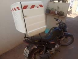 Bau para moto com suporte para pizza e marmitex r