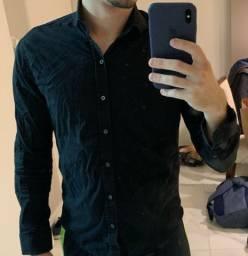 Camisa social Preta - tng - P - Black Edition