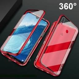 Capinha Magnetica iPhone 7 Vidro Frente E Verso
