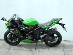 Kawasaki ninja zx-6r 636 verde com apenas 4 km rodados