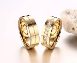 Par de alianças noivado e casamento