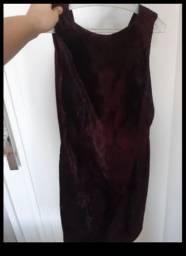 Vestido carmuça vinho