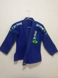 Kimono Jiu Jitsu infantil 8 anos + Faixa cinza