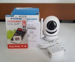 Câmera de segurança portátil com cartão 16 GB