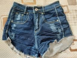 Short jeans escuro perfeito 36/38