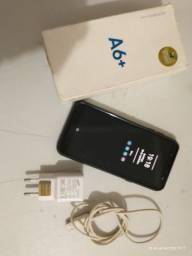 Sansumg A6+ 64 giga 4 ram biometria reconhecimento facial.