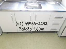Balcão 1.60m com pia Inox