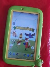 Tablet DL sabichões Educativo c Bluetooth e Capinha emborrachada