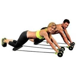 Kit Musculação Fitness Elástico Roda Extensor para Abdominal Braços e Pernas Tander