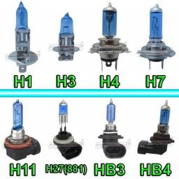 Par de Lâmpadas Automotivas Super Brancas 55W HB3 HB4 H11 H7 H8 H4 H3 H1 H16 e H27