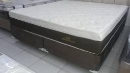 Cama Box + Colchao Personalle Super King 193x203 Confira