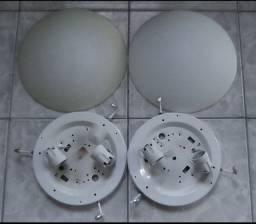 2 Luminárias Paflon Vidro