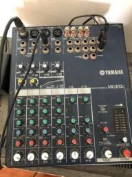 Mesa de som da Yamaha+ potência da Nashiville, + caixa de som passiva