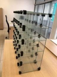 Expositor de vidro temperado 30 repartições Usado