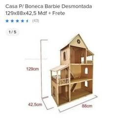 Casinha da barbie e kit móveis em mdf