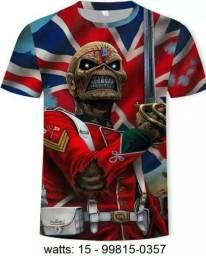 Camiseta Iron Maiden e 3d