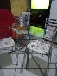Mesa de vidro 4 cafeiras