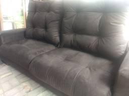 Sofá retrátil e reclinável de mola ensacadas