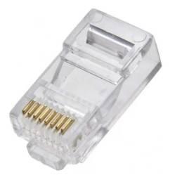 Conector Rj45 Cabo Rede Lan Plug Ethernet Cat5e Un