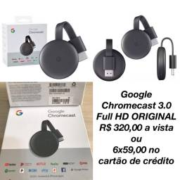 Google Chromecast 3.0 FullHD ORIGINAL - sua TV vira uma Smart Netflix séries YouTube