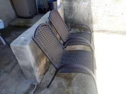 Cadeiras novas em vime