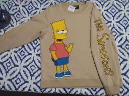 Moletom Bart Simpsons estampado artesanalmente tm GG