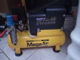 Compressor hobbies de 6 litros -150l/m com filtro regulador de pressão