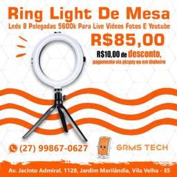 Ring Light De Mesa, Live Videos Fotos e Youtube - Loja 01 GRMS Tech