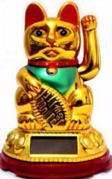 Gato da Sorte dourado - Minichina