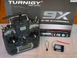 Rádio turnigy 9x novinho com bateria life e dois receptores originais completo