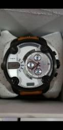 Relógio Diesel 3bar Pulseira de couro a prova d'água Completo
