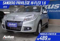 Renault Sandero Privilège 1.6 8V Hi-Torque (flex) 2012