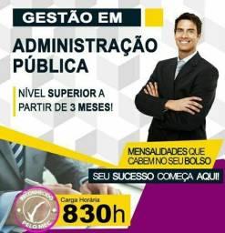 **Gestão em Administração Pública e Privada - EAD - Curta Duração - Sequencial