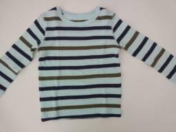 Blusa algodão Osh Kosh (3T) listras azuis