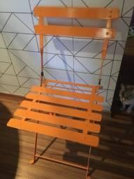 Cadeira de aço dobravel amarela Super Nova