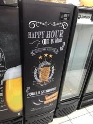 Cervejeira Imbera 230 Litros - Porta Sólida Adesivada Happy Hour - Matheus