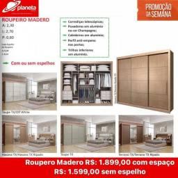 roupeiro Madero espelho opcional