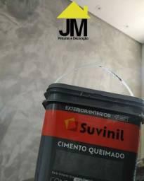 Efeitos Cimento Queimado e marmorato ( pintor profissional)