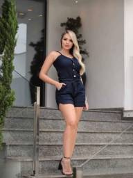 moda feminina  Macaquito e jardineira jeans