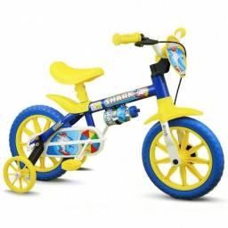 Bicicleta aro 12 Masc  shark / Amarelo big boy bike