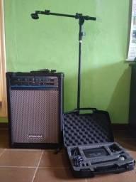 Kit Caixa de Som, Pedestal e Microfone