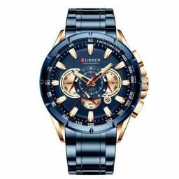 Relógio masculino Curren de aço inoxidável