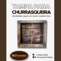 Tampa de churrasqueira