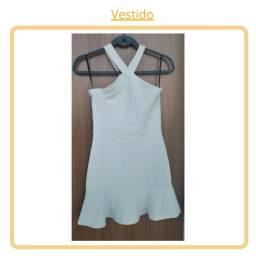 Vestido Branco Jacquard - P