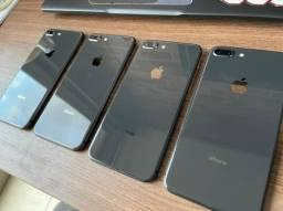 iPhone 8 plus cinza, 64gb, excelente estado de conservação + nf + garantia 3 meses