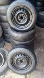 Troco aros 13 com pneus  em aros 14 com pneus