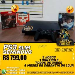 Anubis Games:  PS3 Slim com 3 jogos!