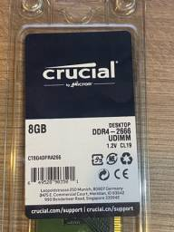 Memória DDR4 8gb nova