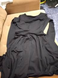 Vestido manga comprida preto